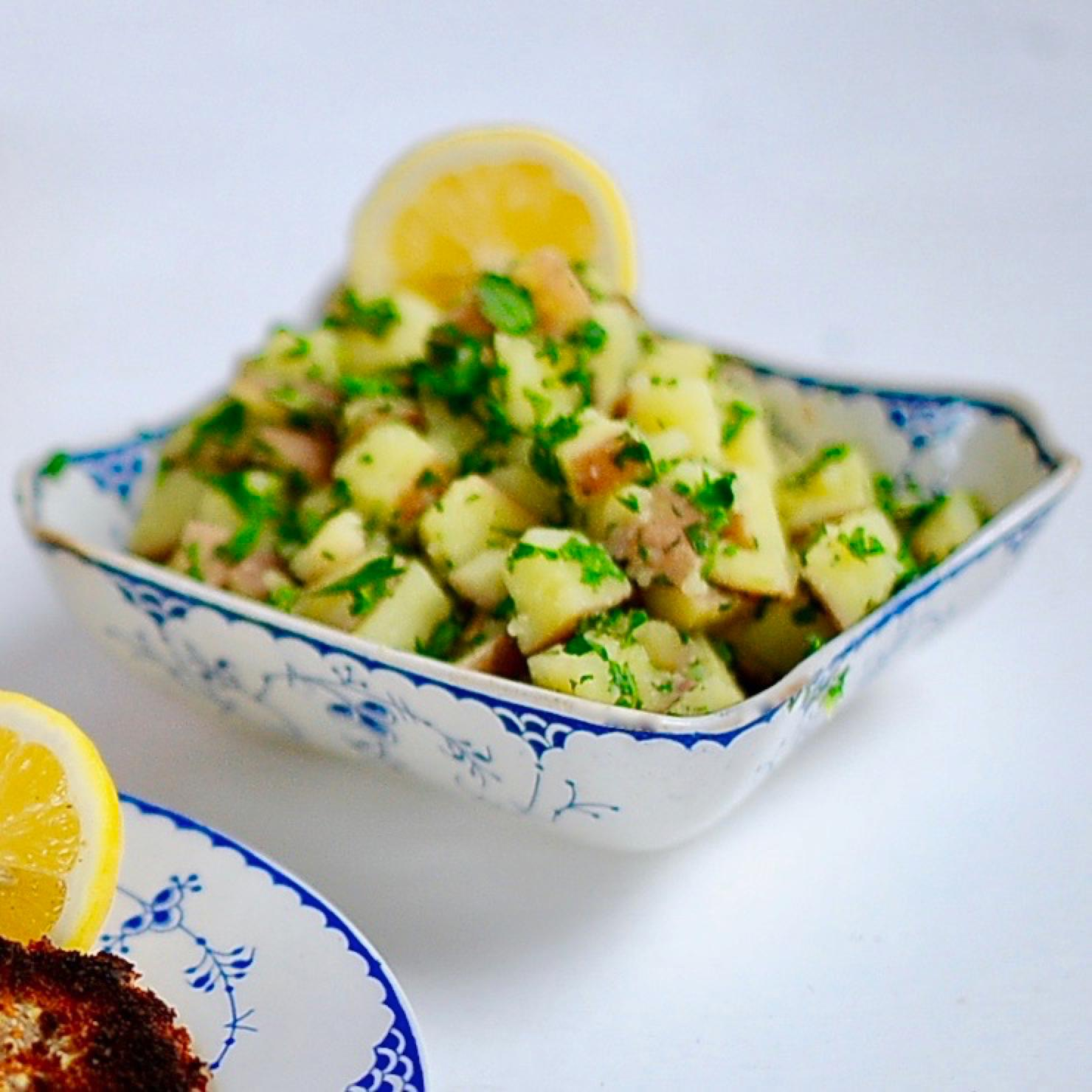 Vegan Lemon Parsley Potatoes
